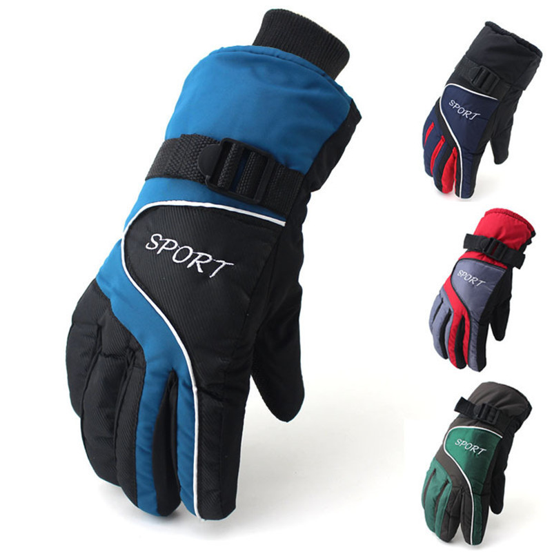Ski Gloves Men Women Free Size Winter Warm Bike Gloves Windproof font b Snowboard b font