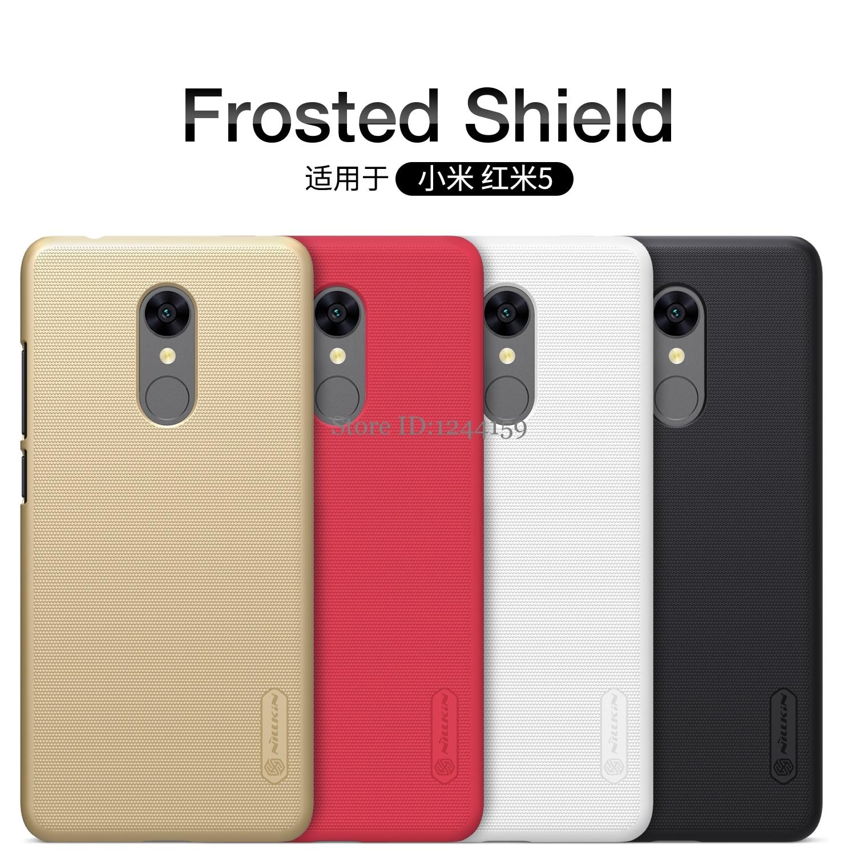 Xiaomi Redmi 5 caso Xiaomi Redmi 5 Plus copertura di Nillkin glassato plastica duro della copertura posteriore per redmi5 plus con la Protezione Dello Schermo