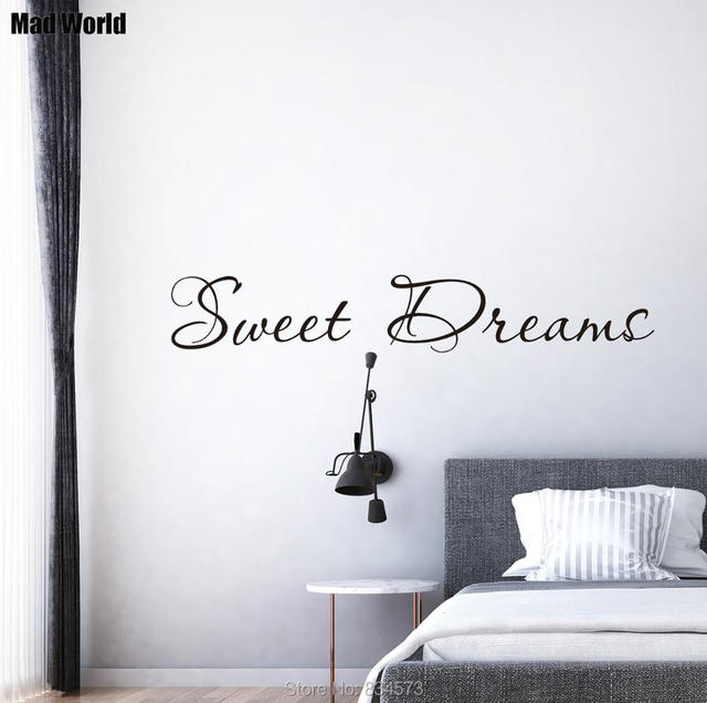 mad world sweet dreams wall art stickers wall decal home diy