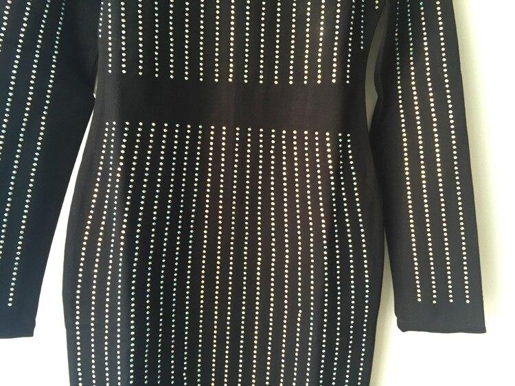 Bandage Noir Luxueux Femmes As Manches 2018 Plus Picture Célébrités Penanyyao Robe Longue The Longues Style Robes Cristaux Moulante Taille IwE5qEP40