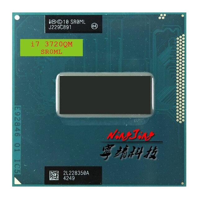 Intel Core i7 3720QM i7 3720QM SR0ML 2.6 GHz Quad Core huit fils processeur dunité centrale 6 M 45 W Socket G2/rPGA988B