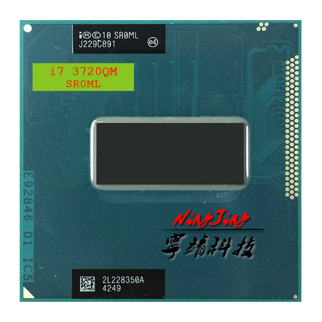 Procesador Intel Core i7 i7 3720QM 3720QM SR0ML 2,6 GHz Quad Core CPU de ocho hilos 6M 45W Socket G2 / rPGA988B