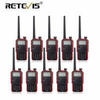 10 шт. высокое Мощность 7 Вт рация Retevis черный RT5 УКВ двухдиапазонный радиостанции VOX Длинные диапазон двухстороннее приемопередатчик