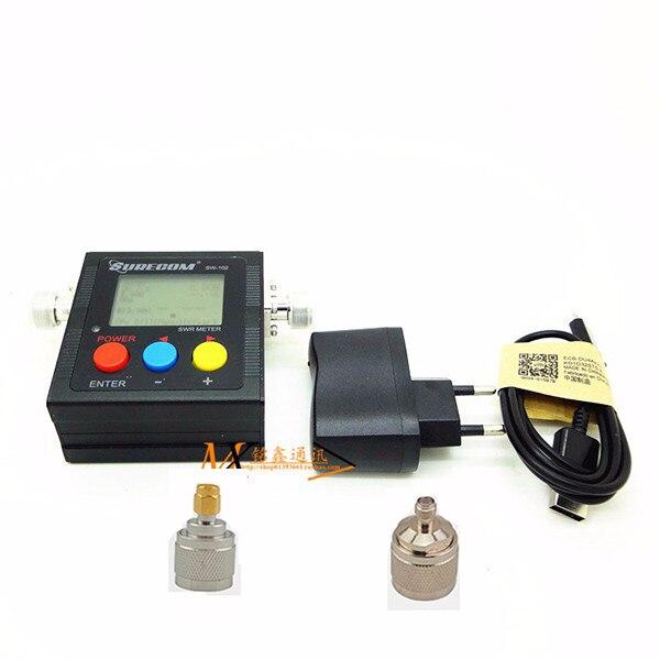 VSWR 1.00 19.9 Digital VHF UHF 125 525mhz SURECOM SW 102 With 2pcs RF Adaptor Baofeng Radio Walkie Talkie Power SWR Meter 120W-in Walkie Talkie from Cellphones & Telecommunications    1