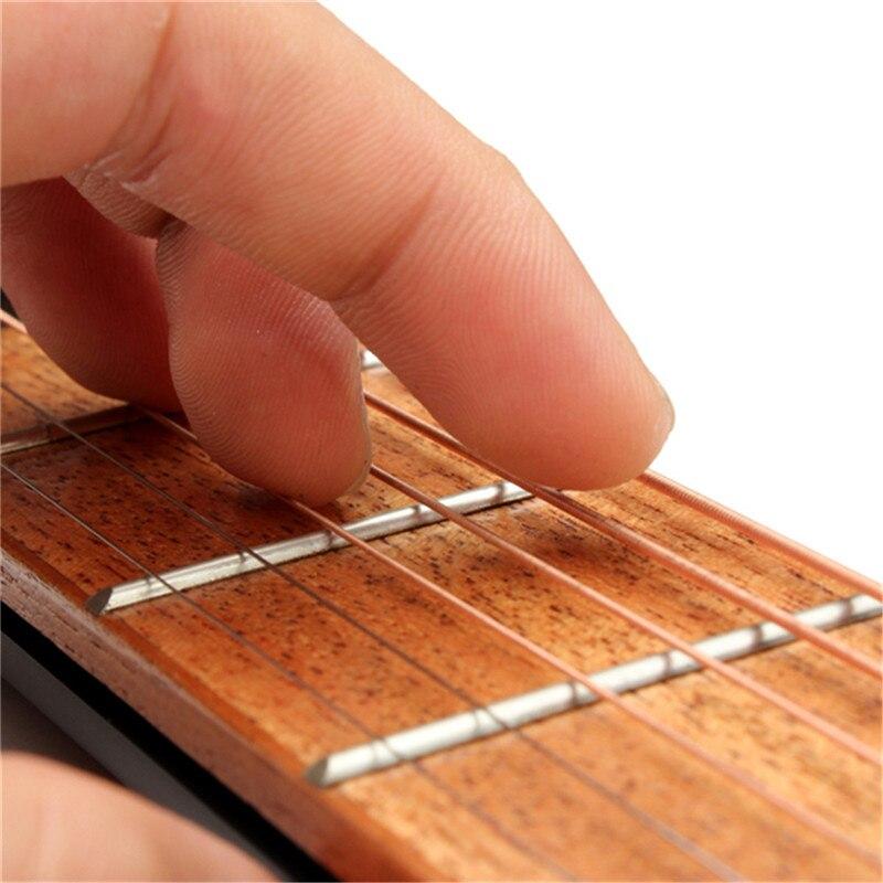 Zebra Hot Portable For Pocket Acoustic Guitar Practice Tool Gadget with Carrying bag 6 String 4 Fret Model for Beginner+2 Picks