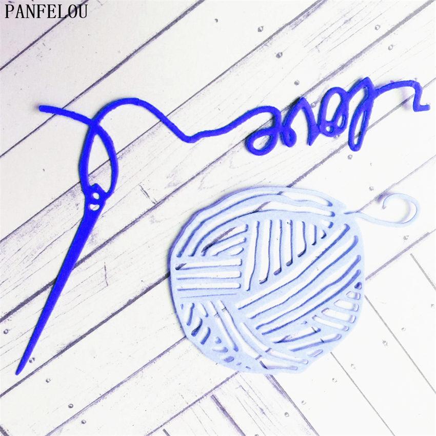 PANFELOU Knitting needles Scrapbooking DIY album Embossing mould cards paper die metal craft stencils punch cuts dies cutting