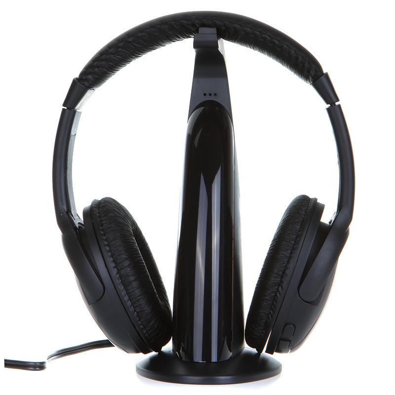Multifunction 5 in 1 HiFi Wireless Headphone Earphone Hi-Fi Headset Wireless Monitor FM Radio MP3 PC TV Audio Phones bingle b616 5in1 wireless headphone earphone hifi monitor fm dj mic for pc tv dvd audio mobile voice chating wireless headset