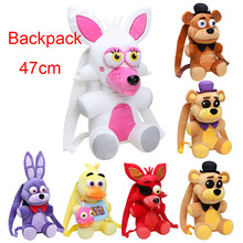 Backpack 18.5'' 47CM Five Nights At Freddy's plush toy FNAF Freddy Fazbear Bonnie Mangle foxy chica plush backpack kids bag