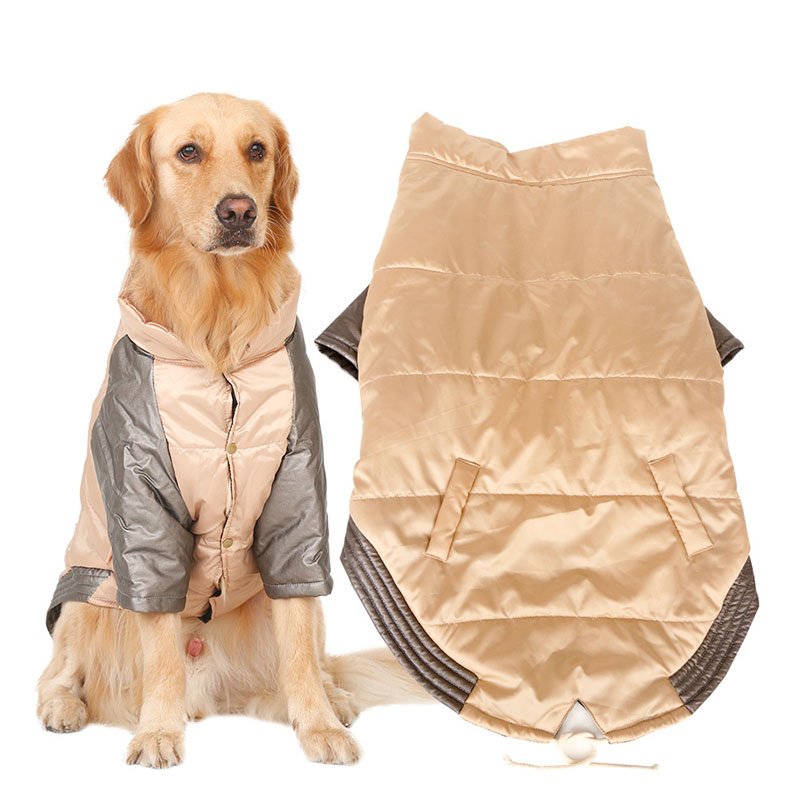 Cool Winter Warm Big Large Dog Hoodie Vest Clothing For Pet Golden Retriever Pitbull Dog Cotton Padded Jacket Coat Clothes