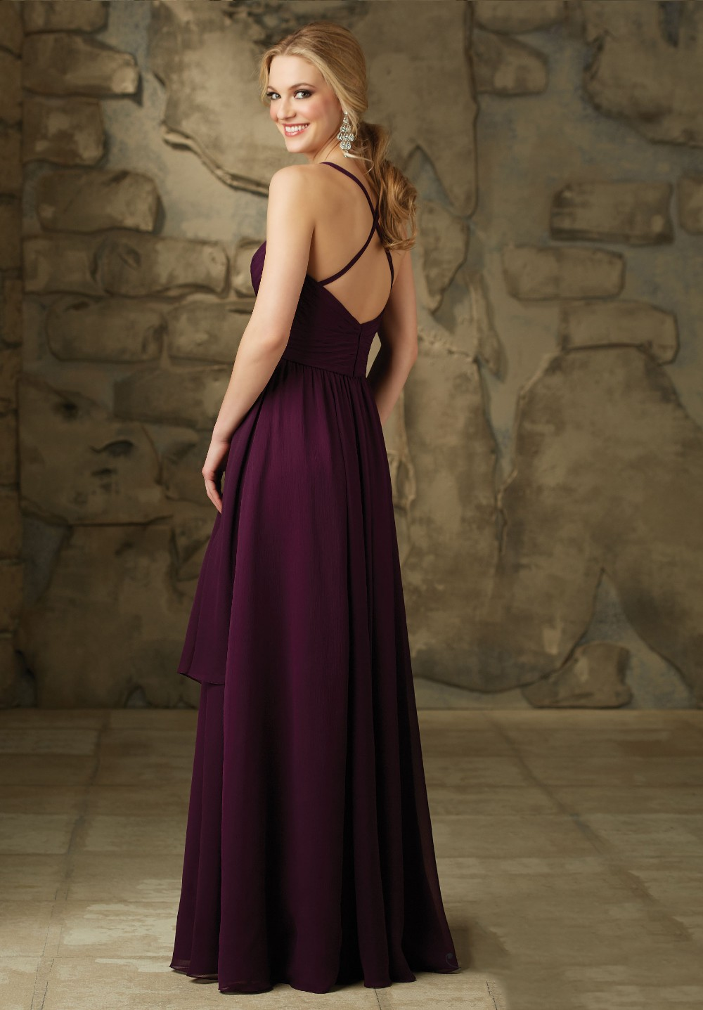 Compare prices on dark purple dress bridesmaid online shopping robe demoiselle dhonneur chiffon spaghetti cheap dark purple long bridesmaid dresses 2016 criss cross ombrellifo Image collections