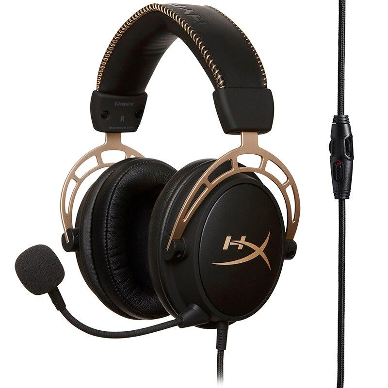 KINTSTON HYPERX Cloud Alpha Golden Gaming Headset Durability Multi-platform compatibility Headphones Signature HYPERX Comfort
