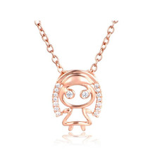 Wholesale Fashion 18K Gold 12 Constellation Necklace Pendant Jewelry Zodiac Virgo Sign Charm Collar For Birthday Gift