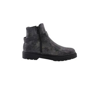 Image 2 - QUTAA 2020 dorywczo okrągłe Toe PU skórzane botki moda ozdoby metalowe kwadratowy obcas zamek zimowe buty damskie duży rozmiar 34 43