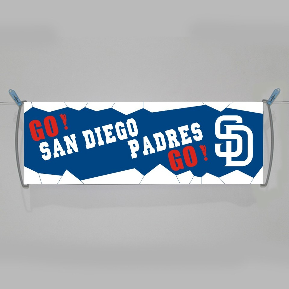 Custom San Diego Padres Hand Banners Polyester Pongee Mlb Team Flags And Banners 24x70cm Printed Banners With Handle Flags Banners Accessories Aliexpress