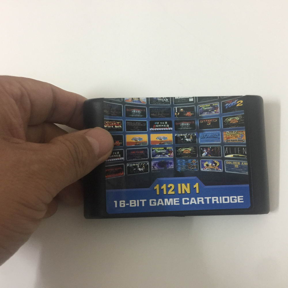 Newest Powerful Game cartridge for sega 16bit for mega drive video game console with free 112 games classic RPG action games