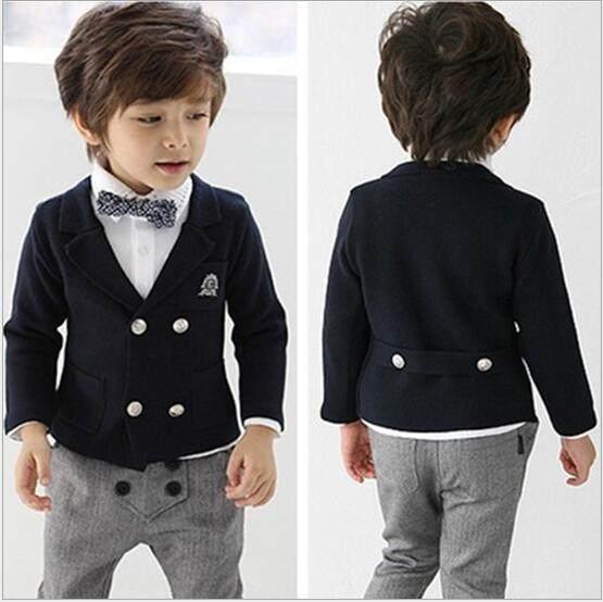 Online Shop 3 piece Blazers jackets for Baby boys Wedding suits Kids ...
