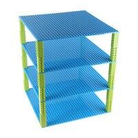 DIY 4 Plantas de Base de Torre y Estantes de Construcción de Ladrillos de construcción placa Base de doble Cara para Ladrillos Pequeños 32*32 Puntos 10