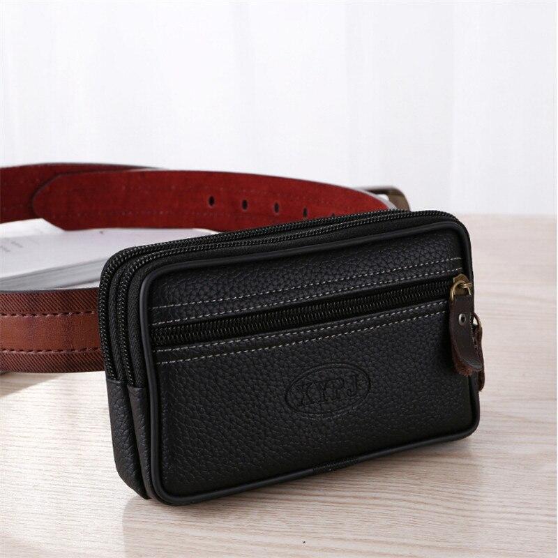 LKEEP Mobile Phone Waist Pack For Men Testificate Bag Coin Purse Strap Casual Mobile Phone Bag Waist Bag Belt Waist Pouch