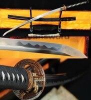 Ручной ковки 1095 высокоуглеродистой стали японский самурай катана вырезать меч bamboo