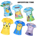 2017 Adventure Time Cartoon 3D Printed Harajuku Style T shirts Short Sleeve Elastic Cute Girl Fitness T-shirt  Women Tops