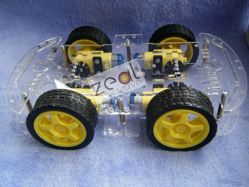 Smart car chassis / 4WD / 4 wheel drive force chronological / Qiangci, motor / belt the code disc / tachometer 2 wheel drive robot chassis kit 1 deck