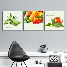 Green Fresh Peas Restaurant Decoration Painting Vegetable Food Canvas Art Posters and Prints Wall Picture for Kitchen Decor(China)