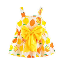 aef29c91d Newborn Toddler Baby Girls Lemon Print Strap Princess Party Casual Dress  Clothes dress girls costumes S23MAY14