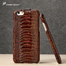 حافظة هاتف فاخرة من الجلد الطبيعي لهاتف آيفون Xs Max XR X 8 7 Plus 6s SE لهاتف سامسونج S8 Plus حافظة ظهر بنمط تمساح