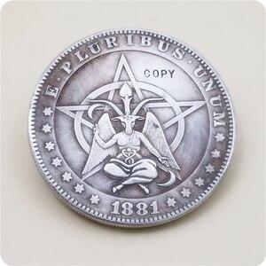 Type #4_Hobo Nickel Coin 1881-CC Morgan Dollar COPY COIN FREE SHIPPING(China)