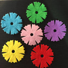 NEW 150PCS Mix 30mm Padded Felt Spring Flower Appliques Crafts Wedding Making DIY A68A*3
