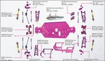 HSP 1/10 Kits de actualización accesorios de piezas para Buggy todoterreno Warhead 94106 poder nitro Baja RC coche 4WD Control remoto coche CNC