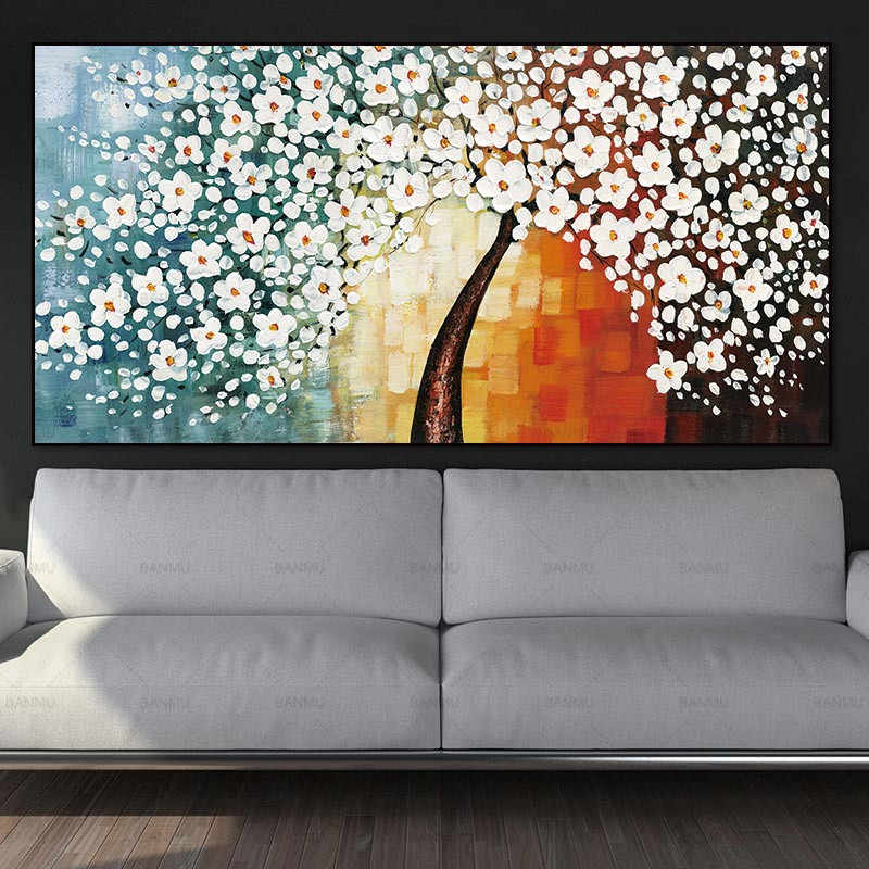 Poster painting canvas wall art picture abstract tree Art Pictures poster decoration for living room prints on canvas no frame