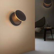 Modern nordic minimalist wall lamp creative art deco LED 360°rotate bedside lamp for living room aisle bedroom indoor lights e27 недорого