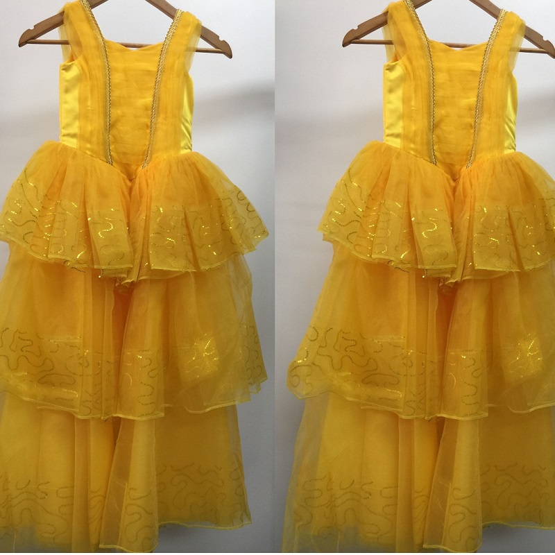 adult princess belle costume yellow dress beauty and the beast dress children adult costumes  kid women girl woman belle cosplay