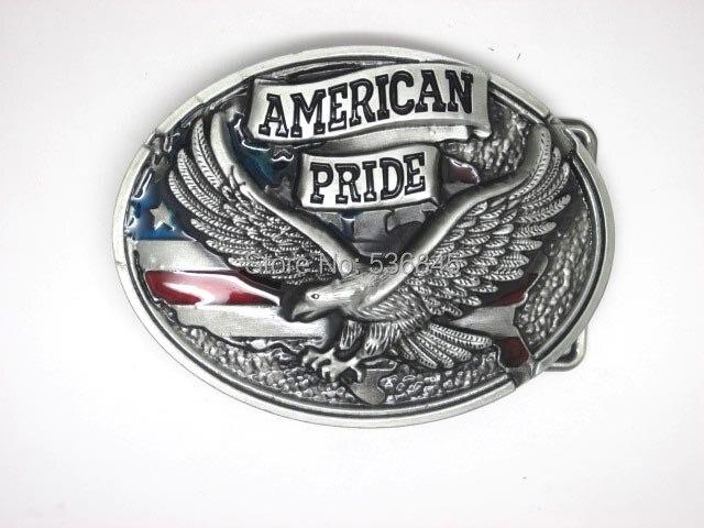ᑎamerykańska Pride Eagle Usa Flag Klamry Pasa W824