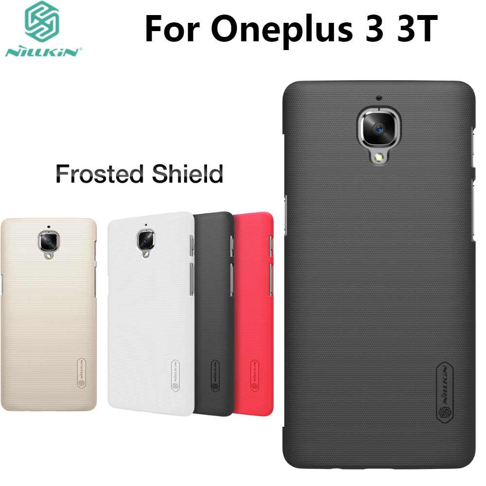 los angeles 11c91 0971a US $7.19 10% OFF|One plus 3 case Oneplus 3 cover NILLKIN Super Frosted  Shield hard back cover for Oneplus3 Oneplus 3T with Retail packaging  +gift-in ...