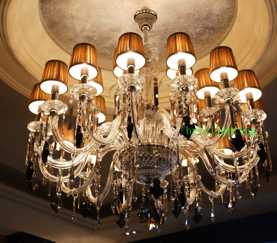 hotel lobby luxury chandelier fabric shade crystal chandeliers modern led chandelier living room murano glass chandeliers edison
