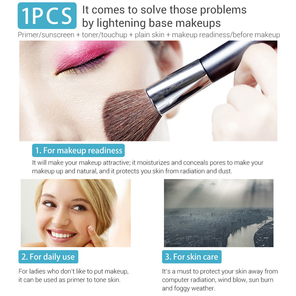 1PC Makeup Base Essence Primer Face Serum Sunscreen Foundation Toner Moisturizing Shrink Pores Oil Control Cosmetic Skin Care 65 in Primer from Beauty Health