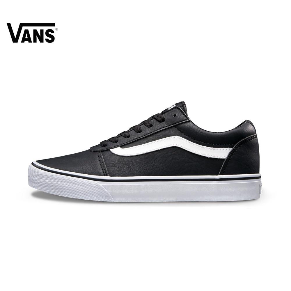 Original Vans Black Low-Top Men's Skateboarding Shoes Sport Shoes Sneakers Outdoor Brand Designer Low Top VN0A38DMK55 low top velcro sneakers