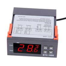 220V 12V 24V 2 Relay Thermostat Controller Digital Temperature Controller for Incubator Heating Cooling Thermoregulator digital led pid temperature controller thermostat temperature instruments thermoregulator snr 1 alarm relay output tc rtd input