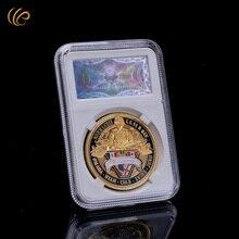 Heißer Verkauf 24 karat Gold Überzogen American Münze D. Tag Gedenk Gott münze Die Usa Armee Münze Frohes Neues Jahr Freund Beste Souvenirs