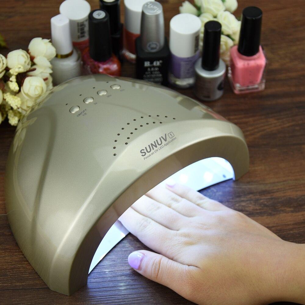 SUNUV Sunone 48W UV LED Lamp Nail Dryer Nail Polish Dryer Machine White Light Fingernail & Toenail Heater sunone 48w uv led nail dryer white