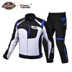 MOTOCENTRIC Waterproof Motorcycle Jacket Moto Jacket +Pants Riding Racing Motorbike Clothing Moto Suit for 4 Season