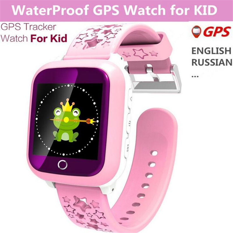Children Smart Watch DS18 GPM GPS WiFi Locator Tracker Kids Wristwatch Waterproof SOS Call Smartwatch Child For iOS Android F19 2018 new gps tracking watch for kids waterproof smart watch v5k camera sos call location device tracker children s smart watch