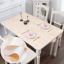 Nórdico imitação mármore oilproof toalha de mesa toalha de mesa PVC vidro macio impermeável tapete almofada da tabela do casamento decoração do partido custom made