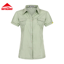 ROYALWAY Camping Hiking Shirts Quick Dry Breathable UV Proof 50+ Short S #RIL7102BS