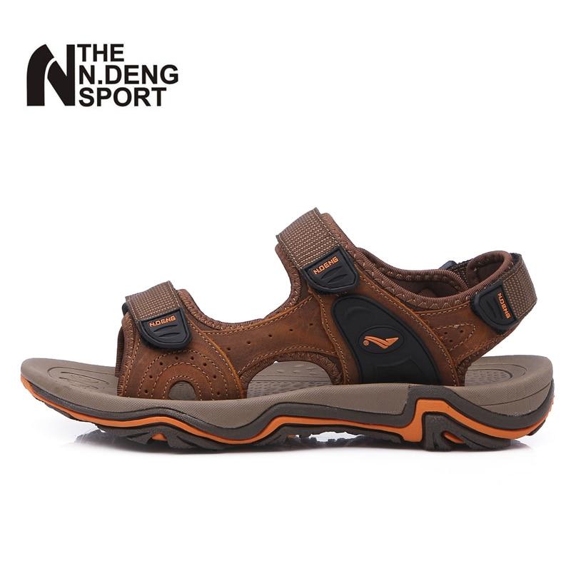 Sommer Vandring Sandaler menn Utendørs strand Sandaler mann Pustende sko Camping Walking Outdoor Sandals Menn Sandalias hombre