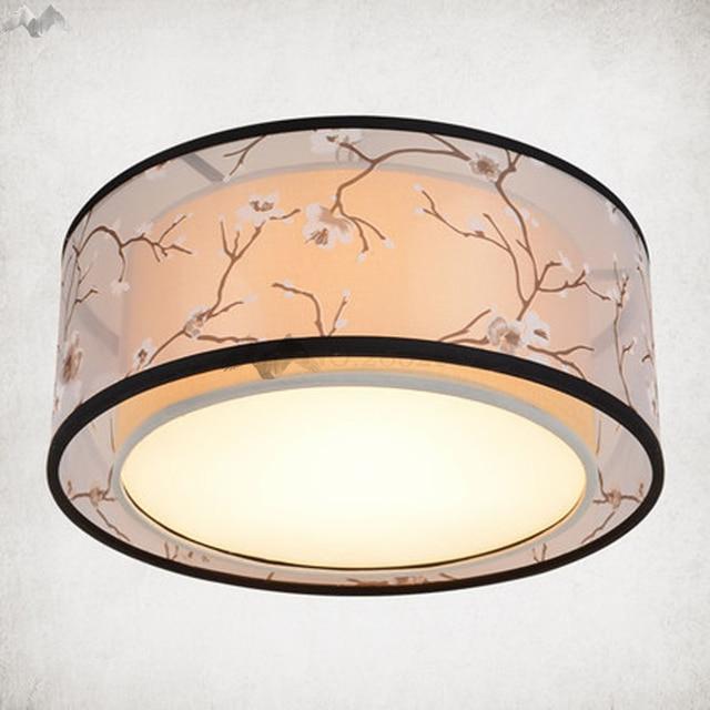Stoff Tuch Led Deckenleuchte Atmosphare Eisen Lampenschirm Moderne Wohnzimmer Decke Lampe Nordic Schlafzimmer