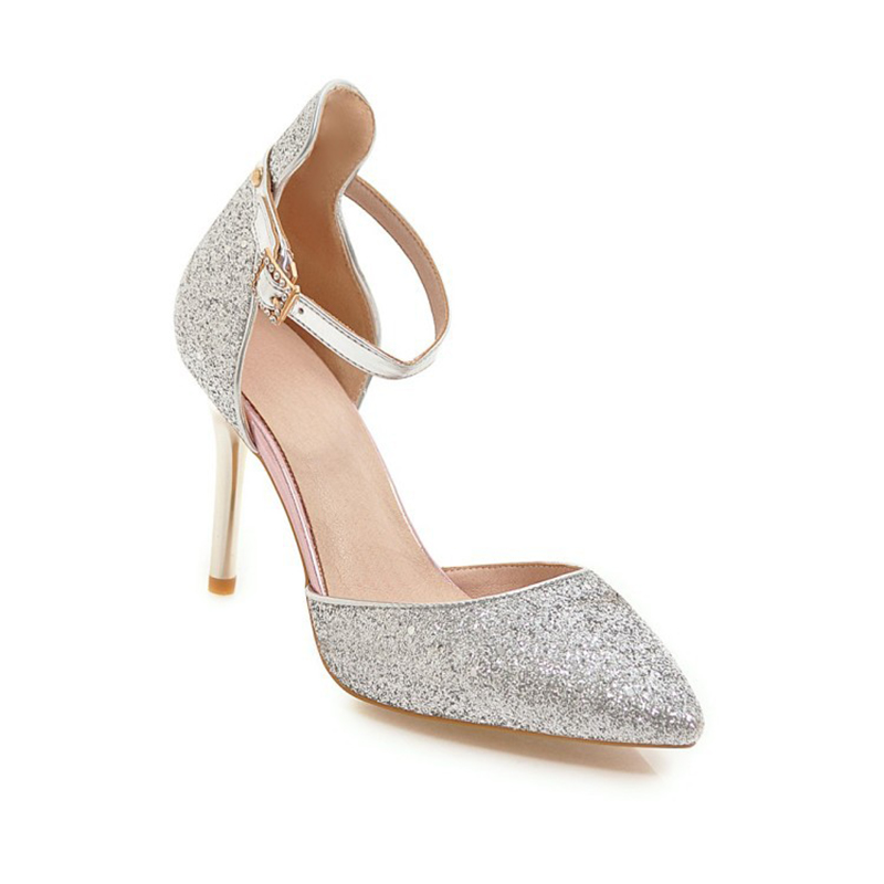 Size33-48 Women Pumps  Bling High Heels  Cinderella Shoes Glitter High Heel Shoes Woman Sexy Wedding Shoes Big Size phyanic bling glitter high heels 2017 silver wedding shoes woman summer platform women sandals sexy casual pumps phy4901