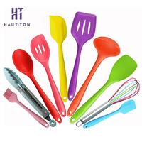 10pcs/set Silicone Cutlery Set multi colored Dinnerware Sets